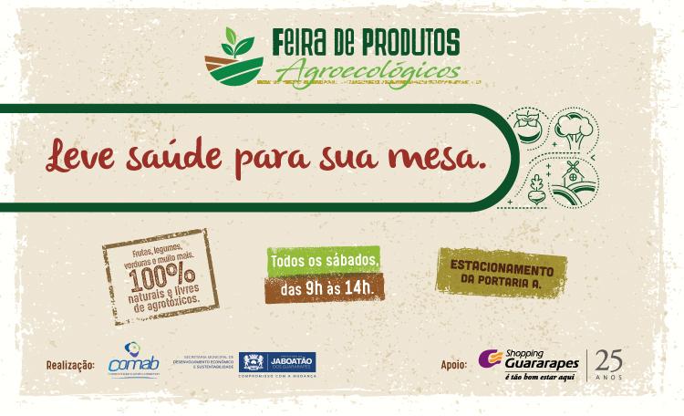 Shopping Guararapes incentiva o consumo responsável com a Feira Agroecológica.