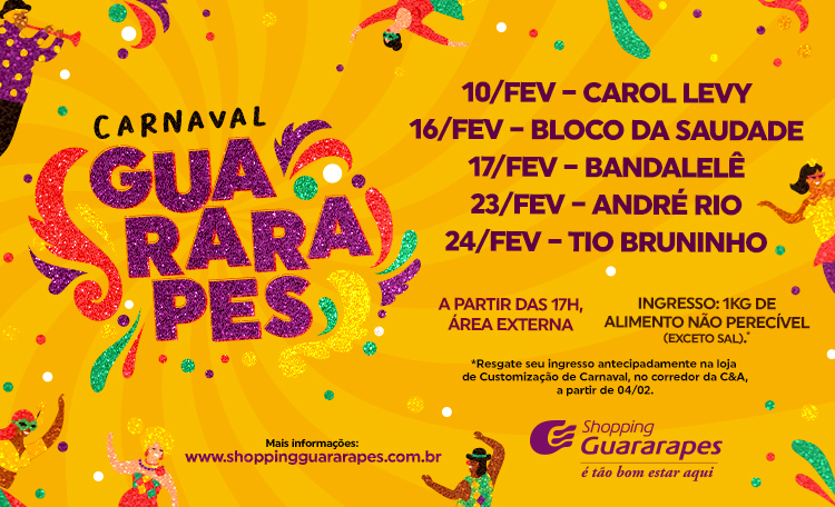 Entraremos na folia a partir do dia 10/02.