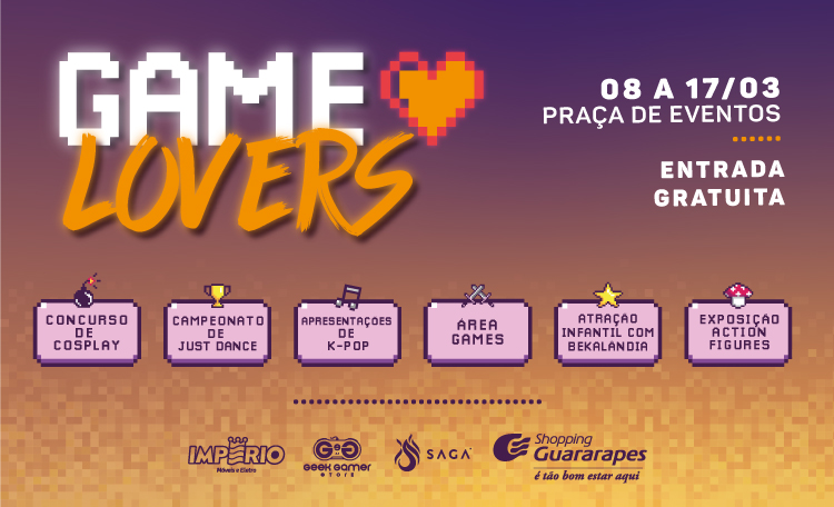 Game Lovers II chega ao Shopping Guararapes