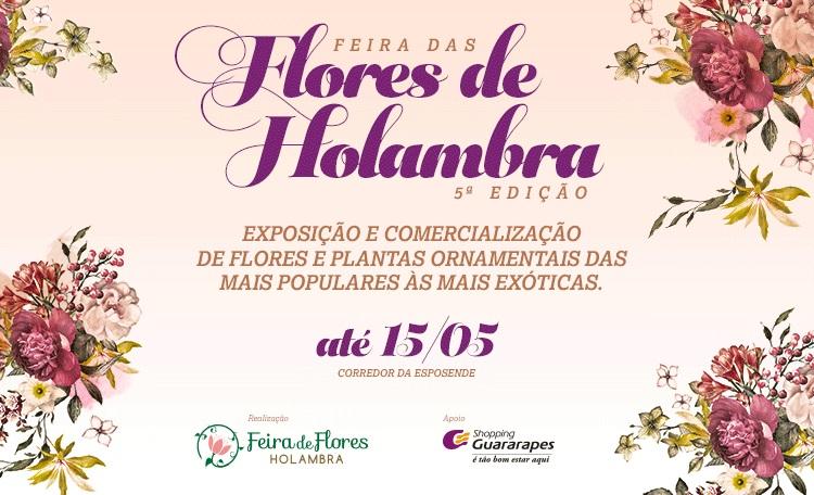 Feira das Flores produzidas na Holambra chega ao Guararapes.