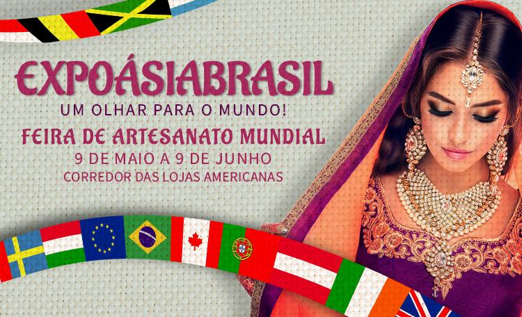 Feira de artesanato reúne peças de seis países no Guararapes.
