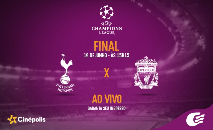 Confira a final da UEFA Champions League 2019 no Cinépolis do Shopping Guararapes