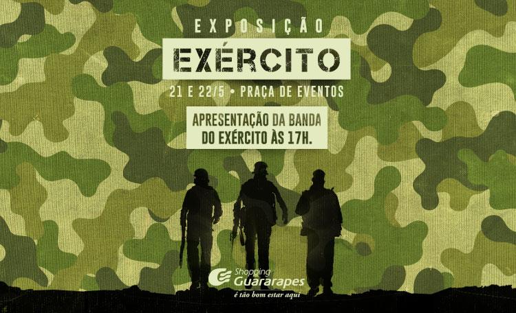 Shopping Guararapes recebe Exposição do Exército