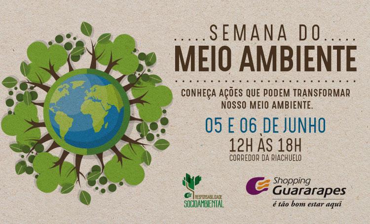 Shopping Guararapes comemora o Dia do Meio ambiente com evento de conscientização
