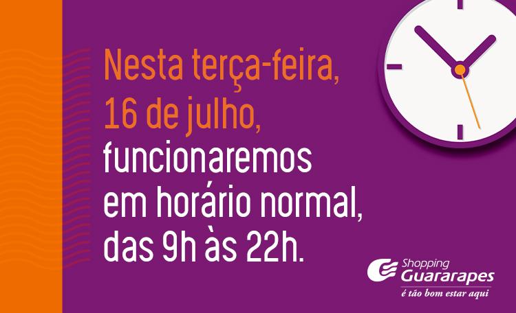Dia 16 de junho é feriado em Recife, mas por aqui funcionaremos normalmente.