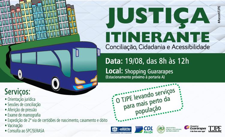 Ação da cidadania do TJPE com serviços gratuitos