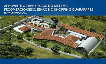 Shopping Guararapes recebe quiosque do Sistema Fecomércio que oferece serviços gratuitos