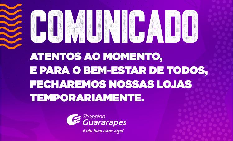 FECHAMENTO TEMPORÁRIO DO SHOPPING