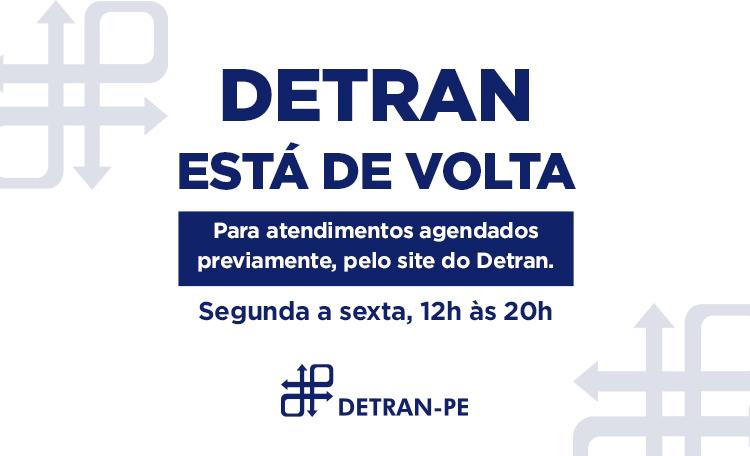 O Detran reabriu aqui no Shopping Guararapes e está funcionando das 12h às 20h (seg. a sex.).