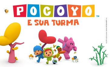 Venha se divertir com Pocoyo e sua Turma aqui no Guararapes.