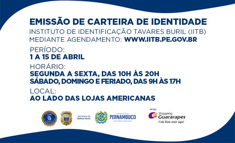 Emissão de carteira de identidade com o Instituto de Identificação Tavares Buril, através da Polícia Civil