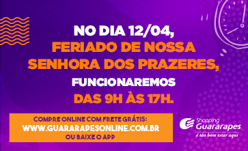 Horário de funcionamento no feriado de Nossa Senhora dos Prazeres (12/04), em Jaboatão dos Guararapes.