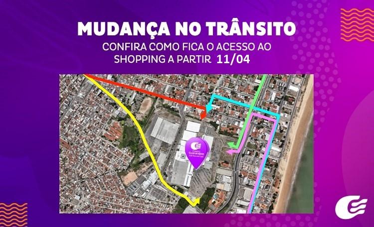 Confira as mudanças de trânsito nas vias que dão acesso ao Shopping.