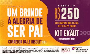 Compre a partir de R$ 250,00 reais e ganhe um kit de cervejas da Ekäut.