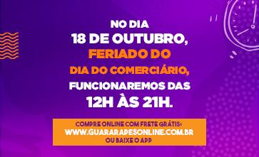 Neste Feriado, 18 de setembro, funcionaremos das 12h às 21h.