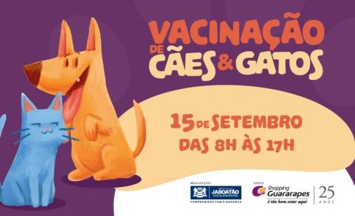 Traga seu animalzinho para participar da campanha de vacinação antirrábica de cães e gatos.