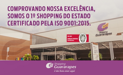 Shopping Guararapes ganha nova ISO 9001.