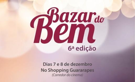 Não perca a 6ª edição do Bazar do Bem, no corredor dos cinemas.