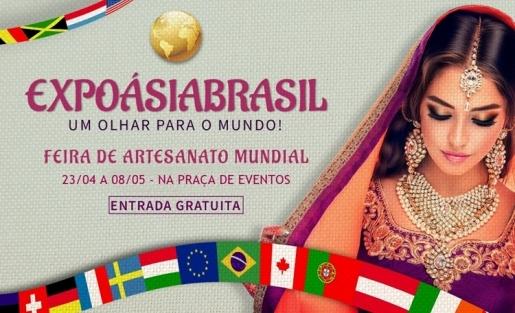 ExpoÁsiaBrasil reúne peças de seis países em nossa Praça de Eventos
