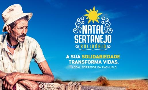 Ajude as famílias do Sertão doando alimentos para a campanha Natal Sertanejo, no corredor da Riachuelo.