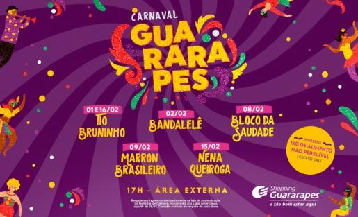 Shows de carnaval com programação para toda a família é aqui no Guara!