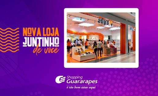 Venha conhecer a nova loja Aby's calçados, no corredor das Lojas Americanas.