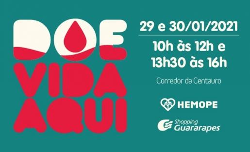 Participe da Campanha de Doação de Sangue do Hemope.