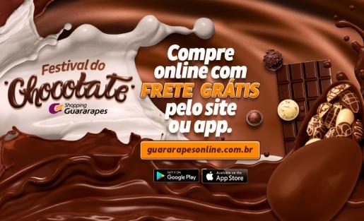 Aproveite o Festival do Chocolate no Guararapes Online