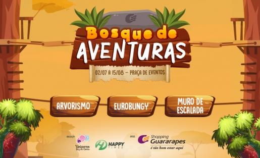 Venha curtir com a criançada o Bosque de Aventuras no Guara.
