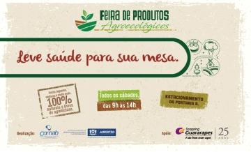 Shopping Guararapes incentiva o consumo responsável com a Feira Agroecológica