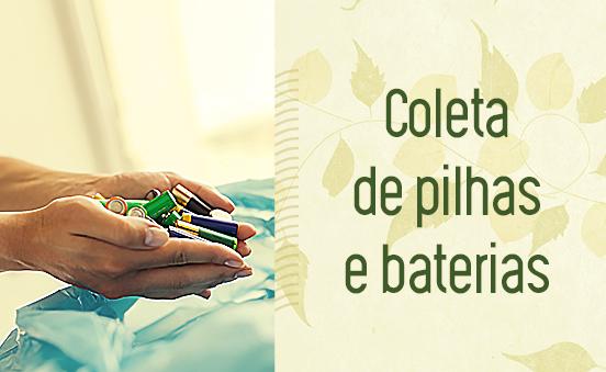 Coleta de pilhas e baterias