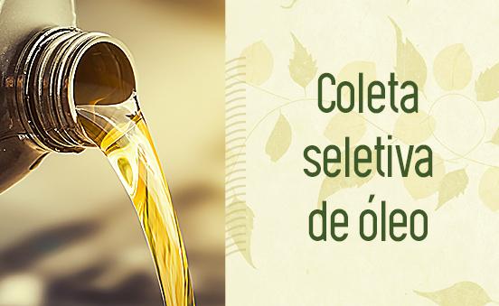 Coleta seletiva de óleo